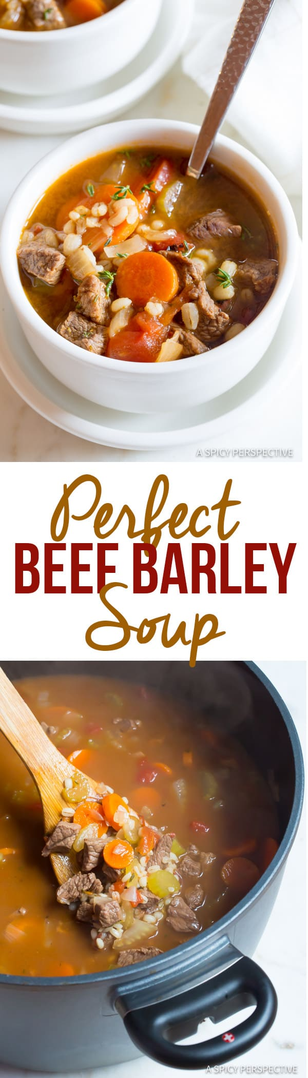 The Perfect Beef Barley Soup Recipe | ASpicyPerspective.com