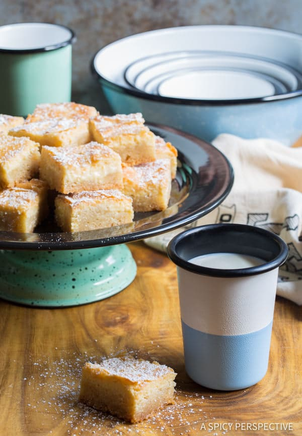 Best Gooey Butter Cake Recipe From Scratch (Similar to Chess Squares and Philadelphia Style Cake) #holidays #christmas