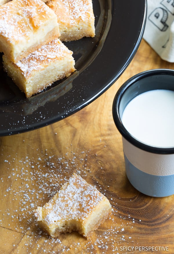 Perfect Gooey Butter Cake Recipe From Scratch (Similar to Chess Squares and Philadelphia Style Cake) #holidays #christmas