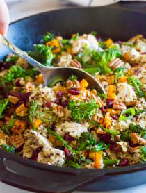 Chicken Broccoli Quinoa Skillet Recipe | ASpicyPerspective.com