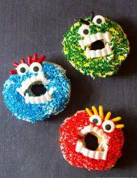 Spooky Halloween Monster Donuts | ASpicyPerspective.com