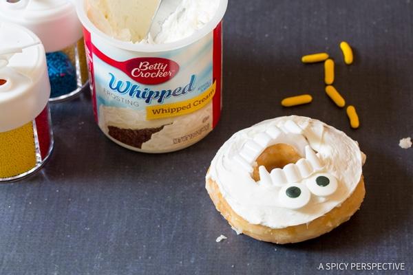 Step 3: Halloween Monster Donuts | ASpicyPerspective.com