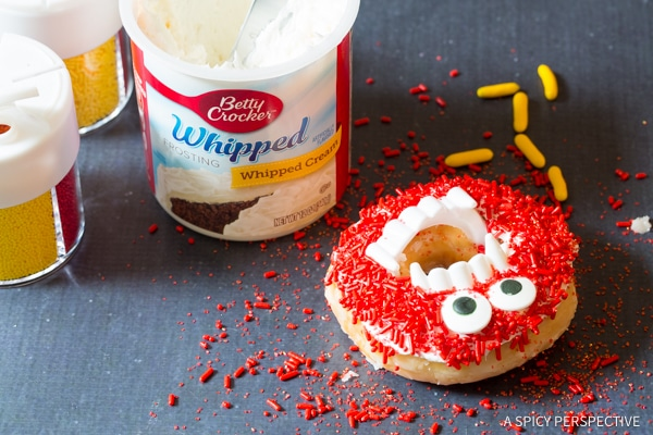 Step 4: Halloween Monster Donuts | ASpicyPerspective.com