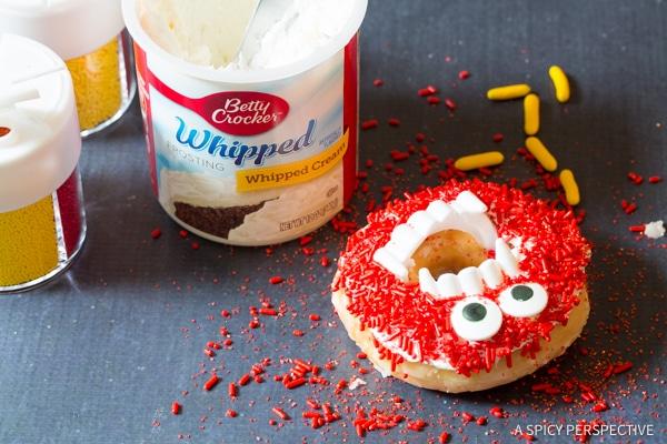 Step 4: Halloween Monster Donuts | ASpicyPerspective.com