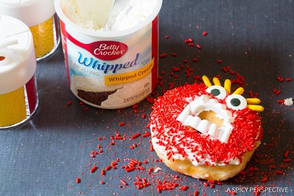 Easy Halloween Monster Donuts | ASpicyPerspective.com