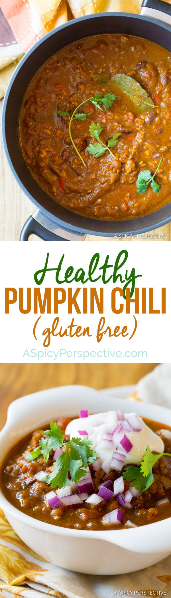 Rich Earthy Pumpkin Chili Recipe (Healthy and Gluten Free!) | ASpicyPerspective.com