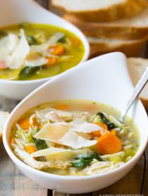 Perfect Italian Chicken Orzo Soup (Healthy and Delicious!) | ASpicyPerspective.com