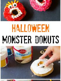 Kid-Friendly Halloween Monster Donuts | ASpicyPerspective.com