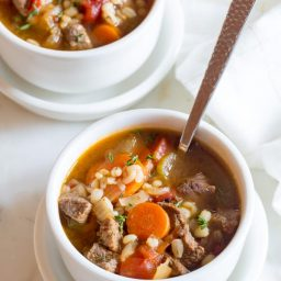 Perfect Beef Barley Soup Recipe   ASpicyPerspective.com