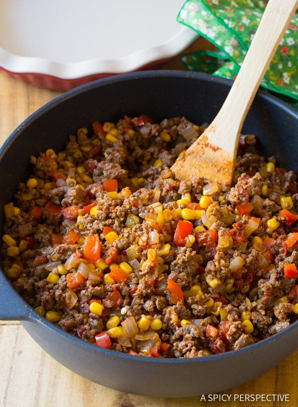 Making Perfect Tamale Pie Recipe - Easy to Make and Gluten Free! | ASpicyPerspective.com
