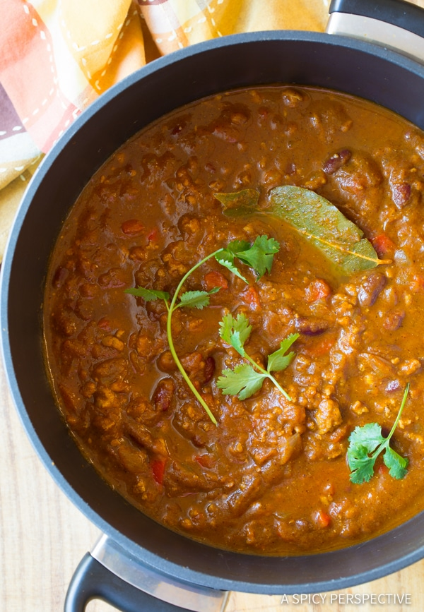 Perfect Pumpkin Chili Recipe (Healthy and Gluten Free!) | ASpicyPerspective.com