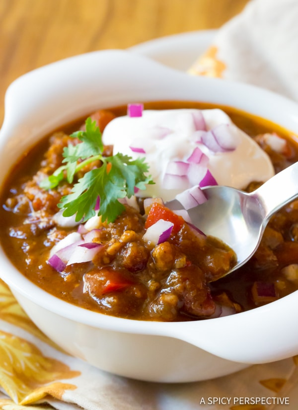 Heavenly Pumpkin Chili Recipe (Healthy and Gluten Free!) | ASpicyPerspective.com