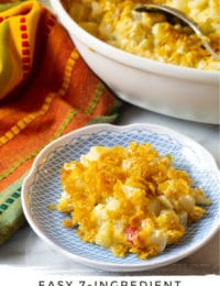 How To Make Hash Brown Potato Casserole #ASpicyPerspective #potato #potatoes #funeral #company #hashbrowns #casserole #baked #holiday