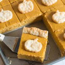 Secret Ingredient Perfect Pumpkin Slab Pie Recipe | ASpicyPerspective.com #halloween #thanksgiving