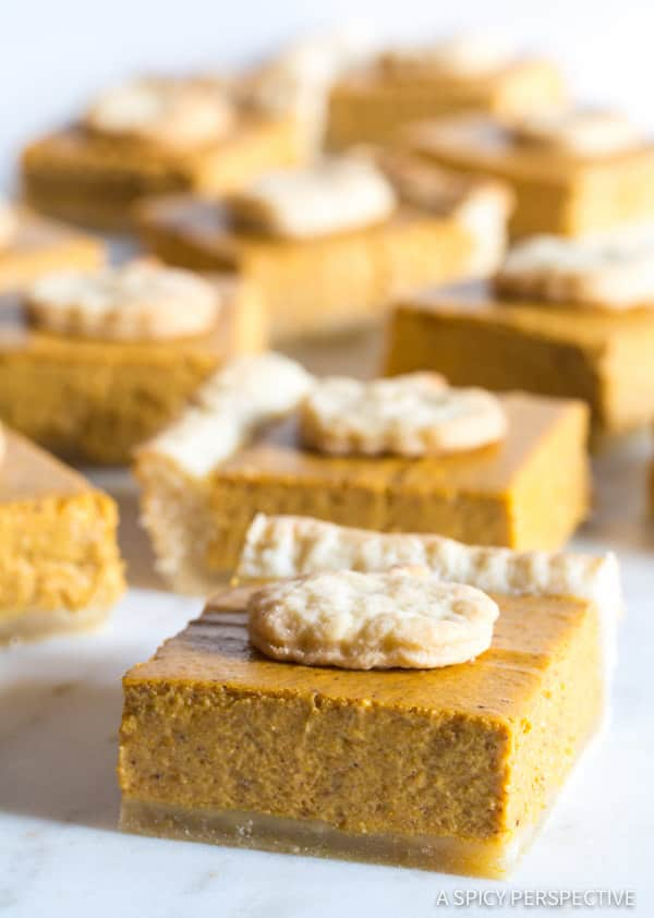 Must-Make Secret Ingredient Perfect Pumpkin Slab Pie Recipe | ASpicyPerspective.com #halloween #thanksgiving