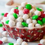 Snowball Party Mix | ASpicyPerspective.com #christmas #ediblegifts