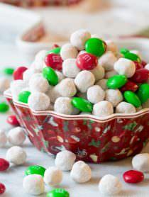 Snowball Party Mix   ASpicyPerspective.com #christmas #ediblegifts
