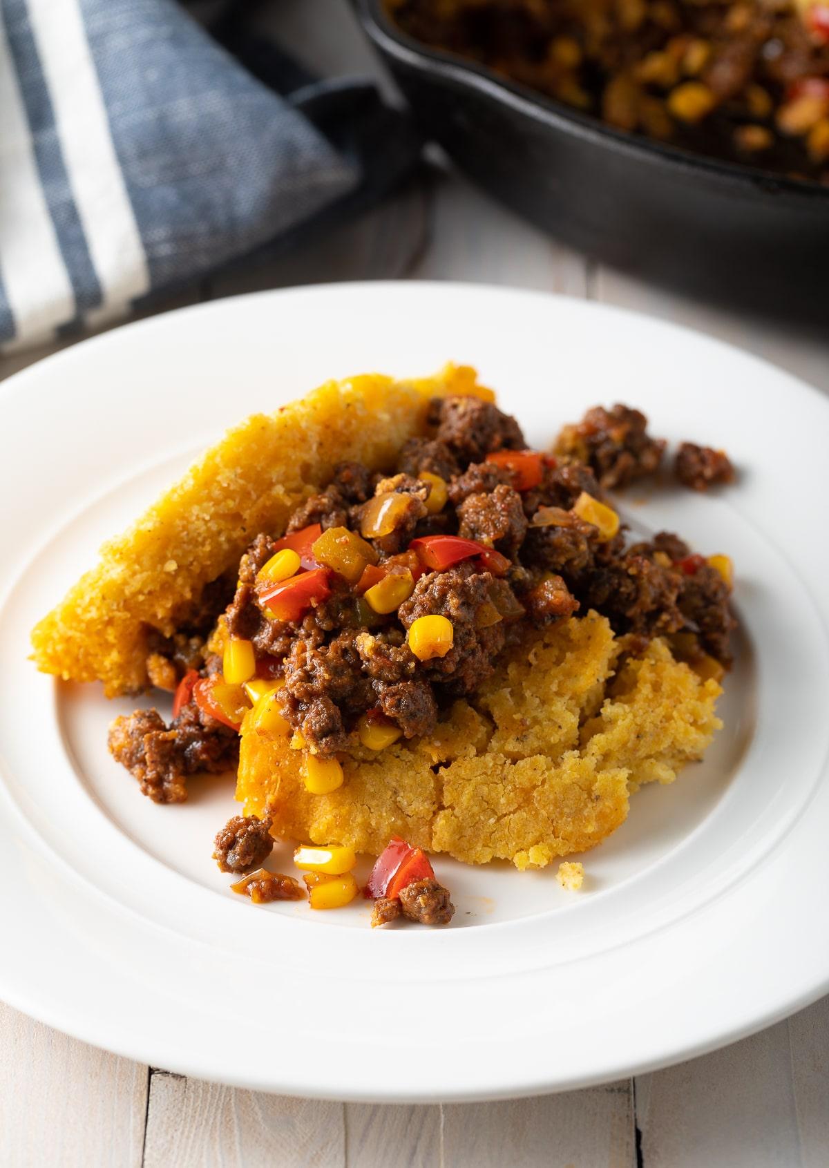 Awesome Tamale Pie Recipe - Easy to Make and Gluten Free! #tamales #tamalepie #glutenfreedinner #glutenfreerecipe #aspicyperspective