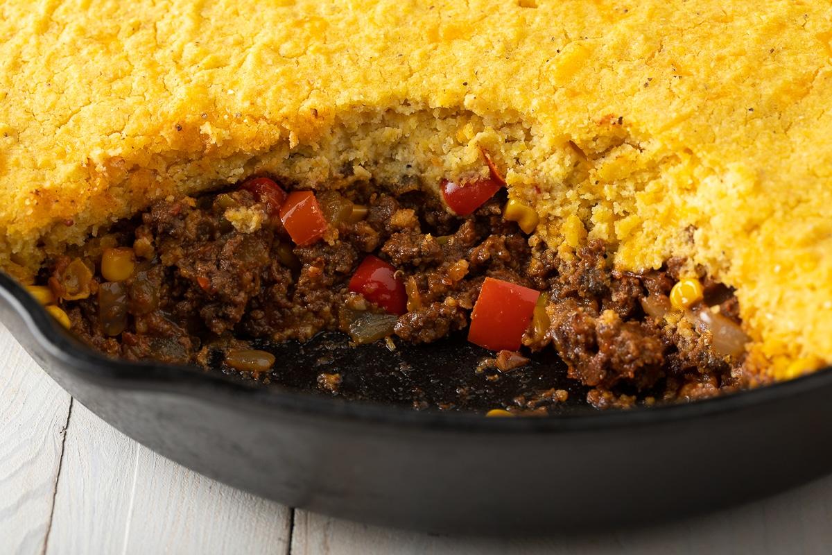 Best Ever Tamale Pie Recipe - Easy to Make and Gluten Free! #tamales #tamalepie #glutenfreedinner #glutenfreerecipe #aspicyperspective