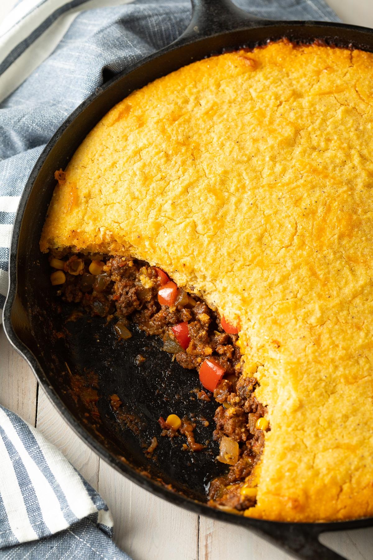 Best Tamale Pie Recipe - Easy to Make and Gluten Free! #tamales #tamalepie #glutenfreedinner #glutenfreerecipe #aspicyperspective