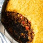 Best Tamale Pie Recipe Ever- Easy to Make and Gluten Free! #tamales #tamalepie #glutenfreedinner #glutenfreerecipe #aspicyperspective