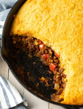 Best Tamale Pie Recipe Ever- Easy to Make and Gluten Free! #tamales #tamalepie #glutenfreedinner #glutenfreerecipe #aspicyperspective