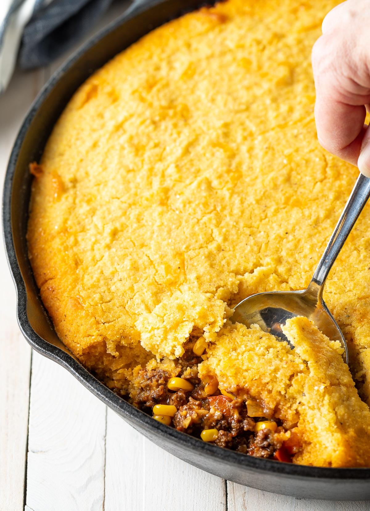 Must-Try Perfect Tamale Pie Recipe - Easy to Make and Gluten Free! #tamales #tamalepie #glutenfreedinner #glutenfreerecipe #aspicyperspective