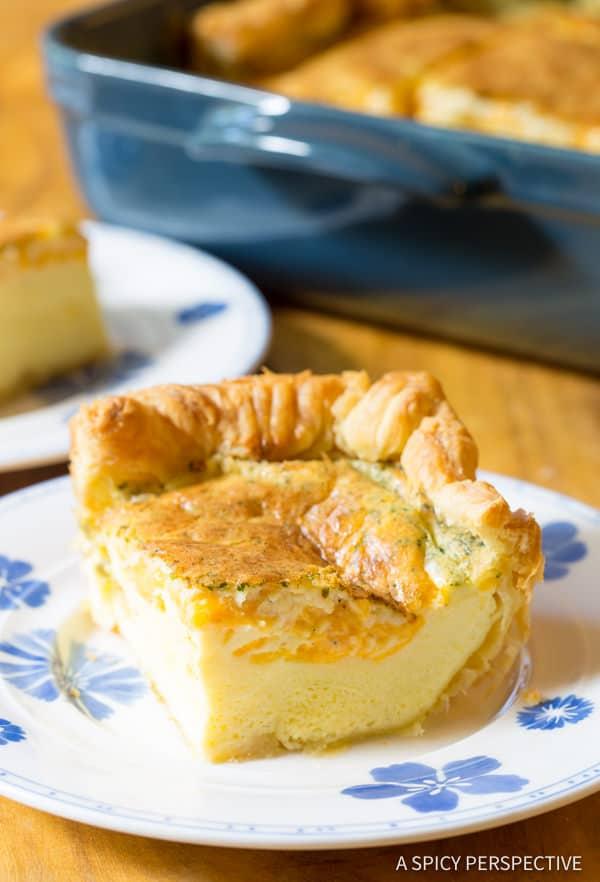 Best Fluffy 5-Ingredient Omelette Bake #holiday #christmas #easter