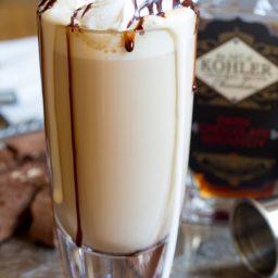 Chocolate Brandy Latte Recipe | ASpicyPerspective.com