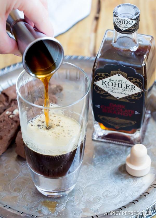 Sinful Chocolate Brandy Latte Recipe | ASpicyPerspective.com