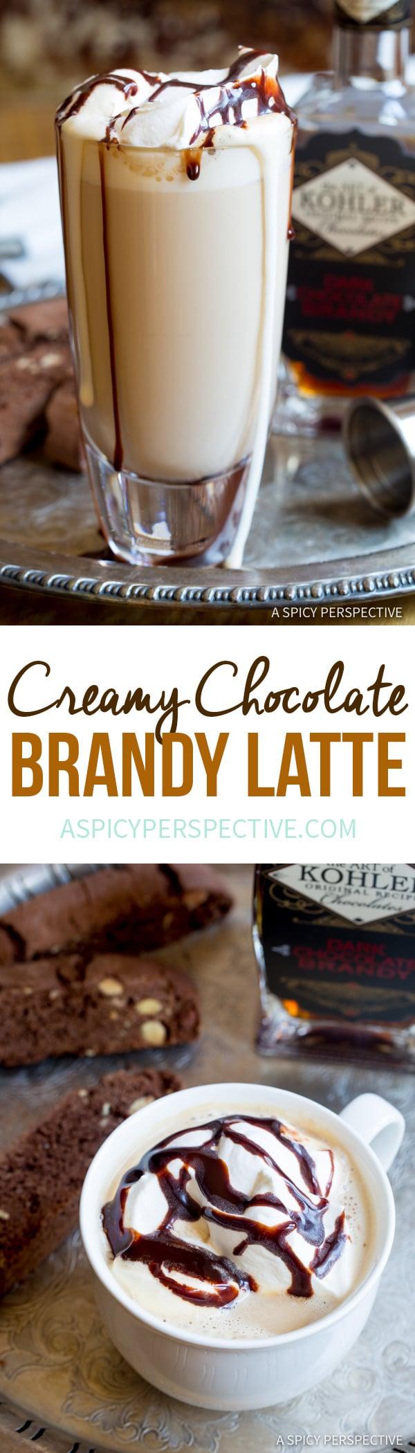 Creamy Chocolate Brandy Latte Recipe | ASpicyPerspective.com