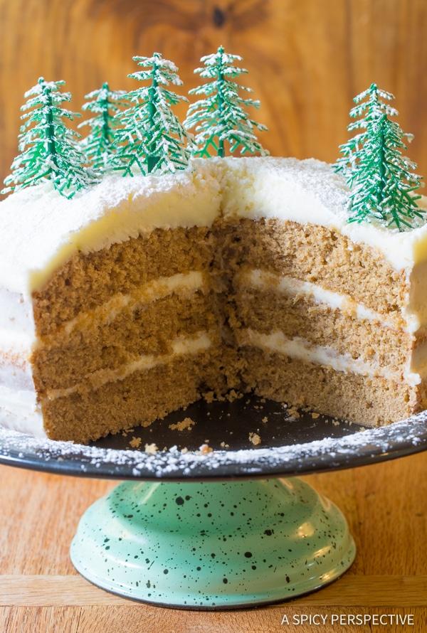 Dazzling Cinnamon Dolce Latte Cake with Mascarpone Frosting