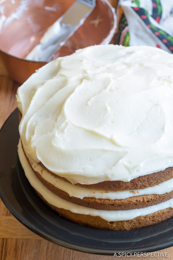 Perfect Cinnamon Dolce Latte Cake with Mascarpone Frosting