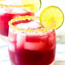 Cranberry Pomegranate Margarita with Spiced Rim Recipe   ASpicyPerspective.com