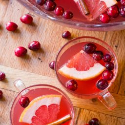 Holiday Champagne Punch Recipe on ASpicyPerspective.com #newyearseve #christmas