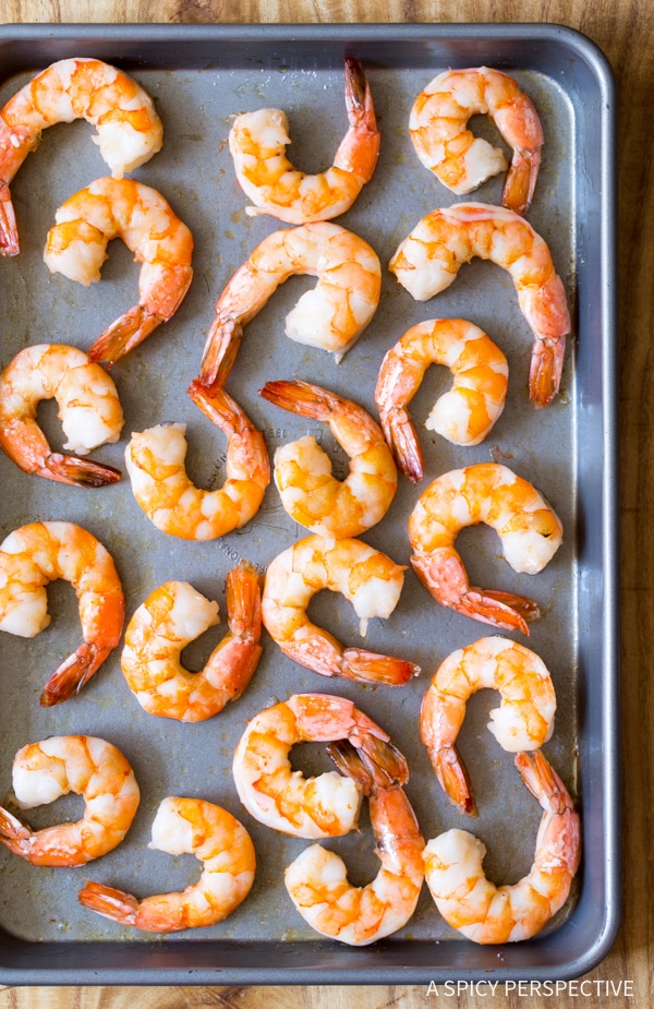 How to Clean Shrimp (Peel and Devein) on ASpicyPerspective.com