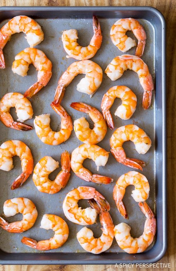How to Clean Shrimp (Peel and Devein) on ASpicyPerspective.com