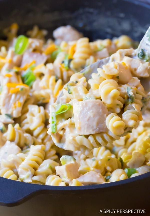 Best One-Pot (Leftover) Turkey Chile Relleno Pasta Recipe | ASpicyPerspective.com