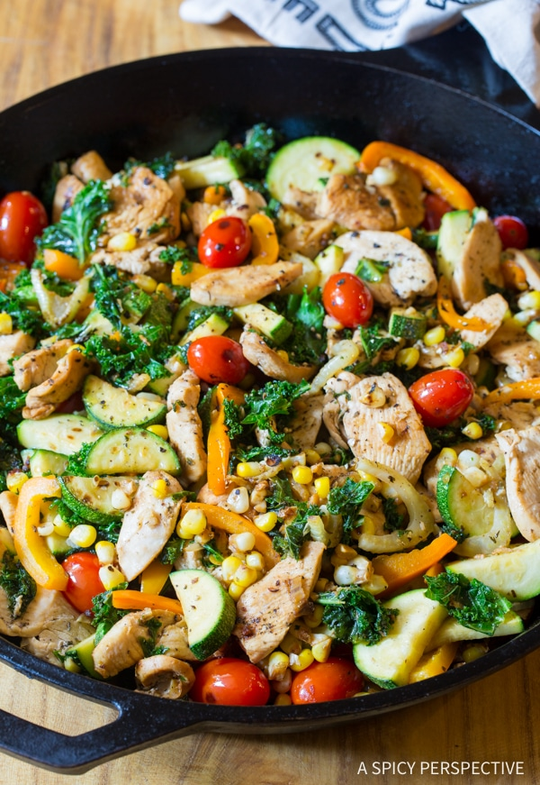 Low Carb Market Chicken Skillet #healthy