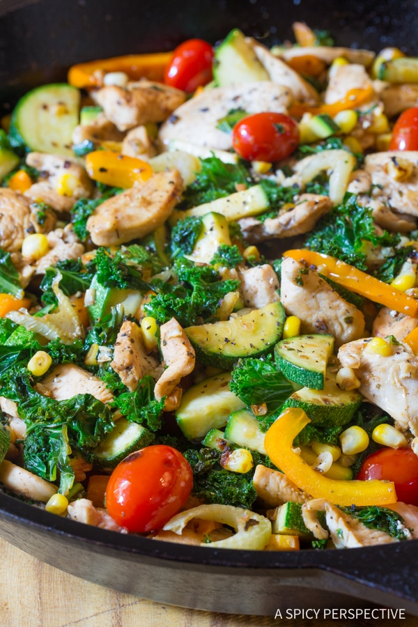 Hearty Low Carb Market Chicken Skillet #healthy