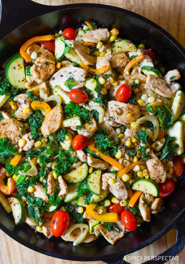 Awesome Low Carb Market Chicken Skillet #healthy
