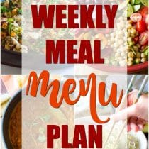 Weekly Meal Menu Plan - A Spicy Perspective