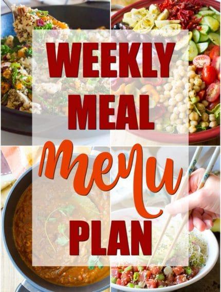 Weekly Meal Menu Plan - A Spicy Perspective