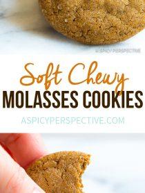 Amazing Soft Chewy Molasses Cookies Recipe | ASpicyPerspective.com