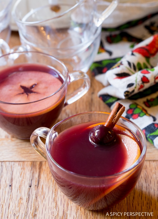 Perfect Mulled Wine (Hot Wassail Recipe) on ASpicyPerspective.com #christmas #holiday