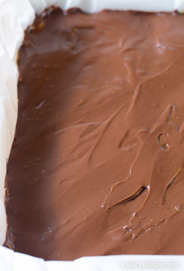 Making Oatmeal Fudge Bars Recipe | ASpicyPerspective.com