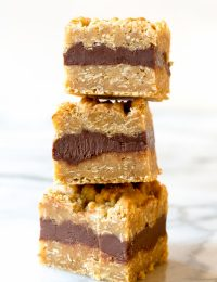 Perfect Oatmeal Fudge Bars Recipe | ASpicyPerspective.com