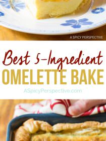 Fluffy 5-Ingredient Omelette Bake #holiday #christmas #easter