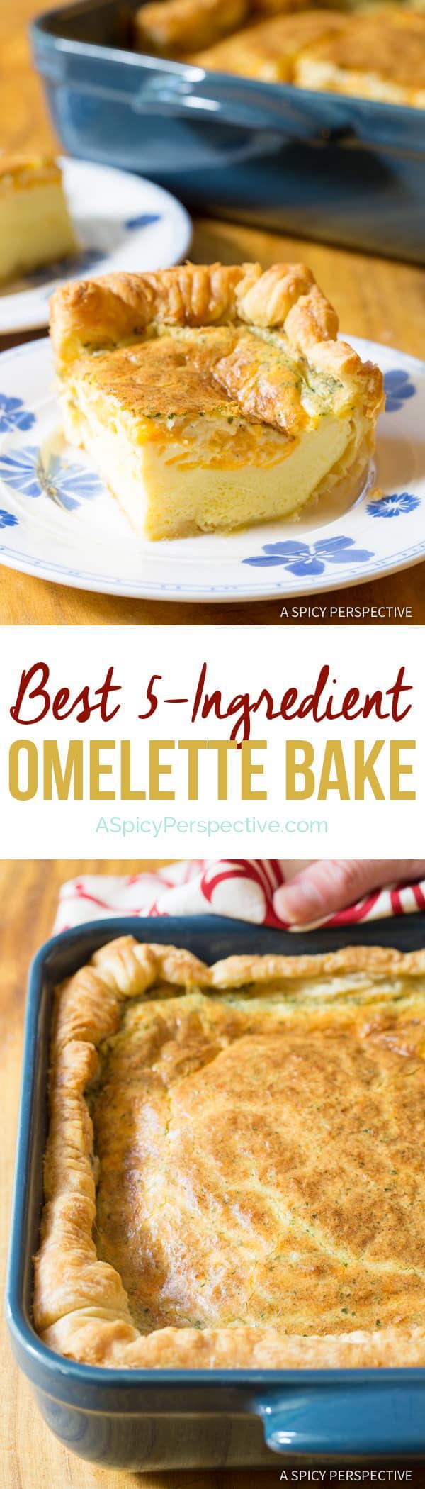 Fluffy 5-Ingredient Omelette Bake #holiday #christmas #easter