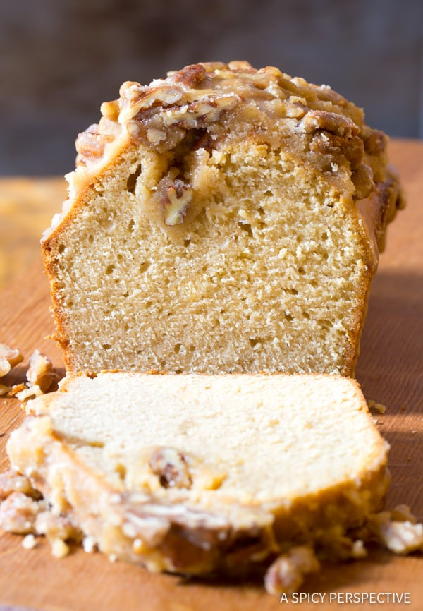 Pecan Crusted Pound Cake Recipe